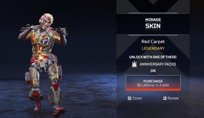 Mirage Red Carpet New Skins