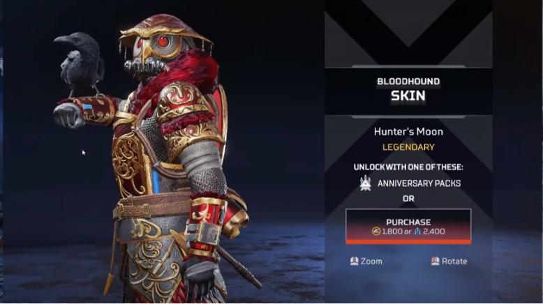 Bloodhound Hunter's Moon New Skins
