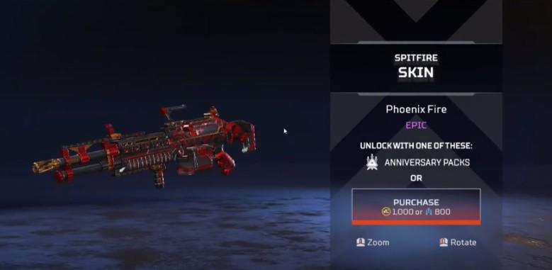 Spitfire Phoenix Fire New Skin