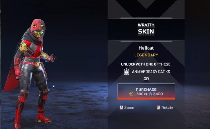 Wraith Hellcat New Skins