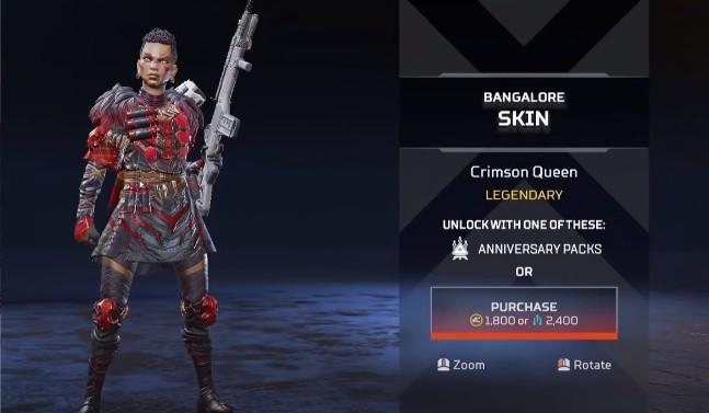 Bangalore Crimson Queen New Skins